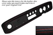 RED STITCH DASH DASHBOARD LEATHER SKIN COVER FITS FORD CORTINA MK2 1600E