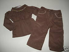 Janie & Jack ENGLISH COUNTRYSIDE Brown Top Pants 12-18
