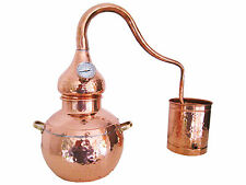 Copper Distiller 20 liter still with thermometer - traditional Alembic Alambic