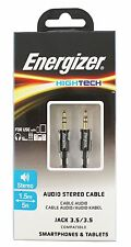 Energizer Hightech Audio Stereo Cable Jack 3.5/3.5 (Aux Cord)
