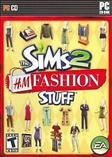 The Sims 2 - H&M Fashion Stuff  (CD,  2007) Rated T for Teen