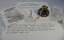 Dollhouse Miniature Tiffany Style Stained Glass Plastic Hanging Lamp Shade Kit