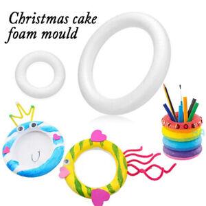 Polystyrene Styrofoam Foam Ring Halfring Donuts Mould For Handmade Craft Decor E