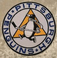 """Pittsburgh Penguins NHL Round 3.5"""" Iron On Embroidered Patch ~USA Seller~"""