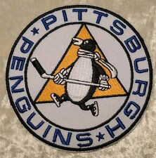 "Pittsburgh Penguins NHL Round Logo 3.5"" Iron On Embroidered Patch ~USA Seller~"