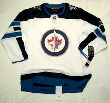 WINNIPEG JETS sz 52 = Large - ADIDAS NHL HOCKEY JERSEY Climalite Authentic White