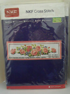 BRAND NEW ROSES (LONG EDITION) COUNTED CROSS STITCH KIT 14ct Size 74 X 26cm