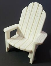 FISHER-PRICE LOVING FAMILY DOLLHOUSE FURNITURE WHITE ADIRONDACK CHAIR WOOD STYLE