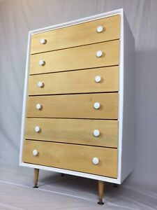 VINTAGE ALROB 6 DRAWER TALLBOY - FREE DELIVERY*