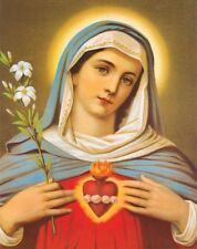 Immaculate Heart of Mary Traditional Catholic Print made in Italy