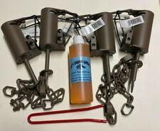 4 Duke Dp Dog Proof raccoon kit ,1 Dp setter & 1 Liquid Gold Bait trap New Sale