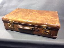 Ancienne petite valise de voyage en carton vintage déco années 1950 valisette