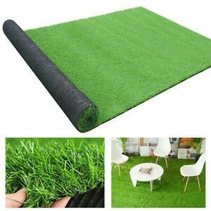 Artificial Grass Carpet Green Fake Synthetic Garden Landscape Lawn Mat Turf U K