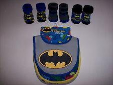 Batman Bib Booties Sock Set Baby Boys Girls 0-12 Mos OSFM Assorted DC Comics NWT
