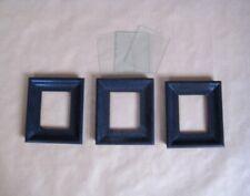 Bilderrahmen antik # 3 Stück # Biedermeier# schwarz,Holz #18x20,5