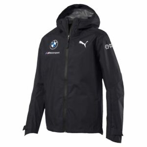 MEN'S PUMA BMW Motorsports 2018 Men's Team Rain Jacket $200 762377-01 XXL