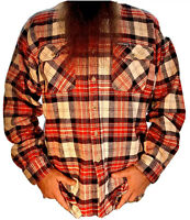 DICKIES FLANNEL RED/WHITE XL