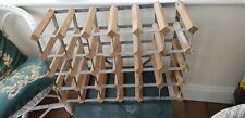 Wine rack, wood, metal, 30 spaces, used