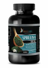 Blue Green Algae ORGANIC SPIRULINA Chlorella Powder 500mg 1 B, 60 Capsules