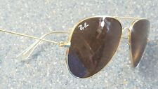 Ray Ban Aviator Gold Classic Made in Italy Sunglasses RB 3025 Eye Cover