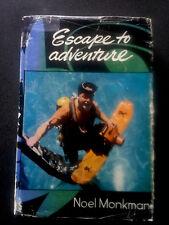 ESCAPE TO ADVENTURE BOOK HB DW 1ST ED SIGNED MONKMAN AUSTRALIA SCUBA DIVING