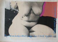 Serigraphy by Ellie Berslein. 1994. Erotic Art. Original signed by the artist