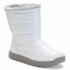 Tek Gear Women's Size 10 Hazel White Puff Faux Fur Winter Snow Boots NEW