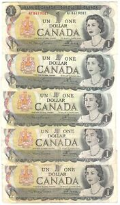Canada 1 Dollar 1973 P-85a Lot of 5