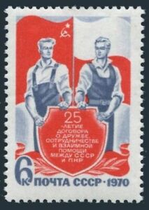 Russia 3757 block/4,MNH,Michel 3780. Treaty of Friendship USSR-Poland,1970.