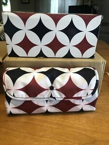 New California Innovations Insulated Market Tote Red White Blue Diamond Pattern