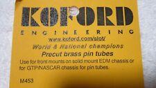 KOFORD ENGINEERING PRECUT BRASS PIN TUBES 4 PER PKG