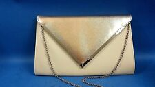 Lovely Large Clutch Bag Atmosphere Tan / Gold  Integrated Chain & Zip Pocket