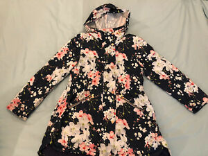 Girls Ted Baker Light Weight Floral Parka Style Jacket Age 12 Years