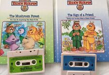 Worlds of Wonder Teddy Ruxpin - 2 Tapes And matching Books set 5