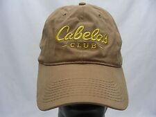 CABELA'S CLUB - LIGHT BROWN - ADJUSTABLE STRAPBACK BALL CAP HAT!