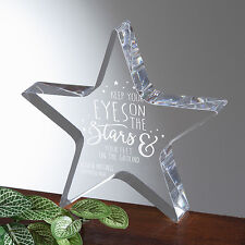 Longwin Personalized Crystal Star Award Trophy Christmas Gift Free Engraving