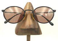 Vintage Tudor 947 Matte Black Metal Oval Sunglasses Eyeglasses British Hong Kong