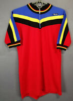 1980s VINTAGE OLD SANTINI PATRICK SCHILS WORN CYCLING CYCLES SHIRT JERSEY SIZE M