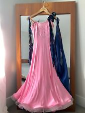 Ballroom Dance Standard Competition Dress Pink And Blue Xs