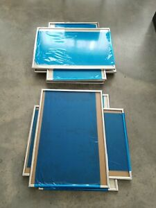9 chrome painting drawing watercolor  Frames Measuring 14 X 20. MCM