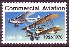 AT FACE! #1684 COMMERCIAL AVIATION  WHOLESALE LOT OF (200) MINT SINGLES F-VF NH!