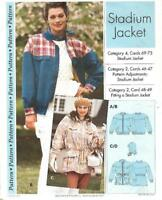 Sewing Step by Step STADIUM JACKET 1994 Misses Sizes 4 - 22 Uncut