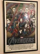 Tyler Stout Avengers Mondo Signed And Numbered Screenprint