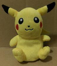 """PIKACHU Pokemon Plush 6"""" Soft 2007 Jakks Pacific Beanie Toy Stuffed Animal EUC"""