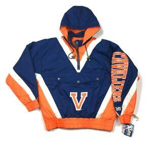 NWT VTG Lee Sport Virginia Cavaliers Hooded Pullover Jacket w/ Tags 90s Men's L