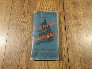 1920's BARTHOLOMEWS TOURIST  MAP ENGLAND AND WALES  CLOTH BACKED