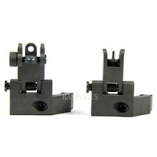 45 Degree Offset Front & Rear Backup Sight Fit Picatinny Weaver Rail
