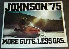 1975 JOHNSON SNOWMOBILE SALES BROCHURE 12 PAGE VERY NICE  (129)