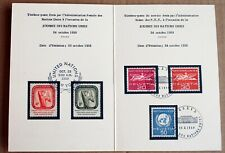 United Nations  - UN Day 1959 Folder with Stamp Sets SU (Se6)