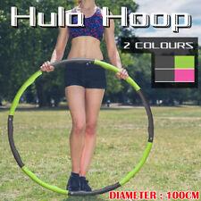 100CM Foam Padded Weighted Waist Fitness Hula Hoop Body Massage Hoola Exercise